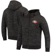 Wholesale Cheap Men's San Francisco 49ers G-III Sports by Carl Banks Heathered Black Discovery Sherpa Full-Zip Jacket