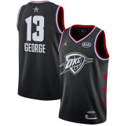 Wholesale Cheap Thunder #13 Paul George Black Basketball Jordan Swingman 2019 All-Star Game Jersey