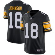 Wholesale Cheap Nike Steelers #18 Diontae Johnson Black Alternate Men's Stitched NFL Vapor Untouchable Limited Jersey