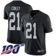 Wholesale Cheap Nike Raiders #21 Gareon Conley Black Team Color Men's Stitched NFL 100th Season Vapor Limited Jersey