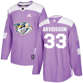 Wholesale Cheap Adidas Predators #33 Viktor Arvidsson Purple Authentic Fights Cancer Stitched NHL Jersey