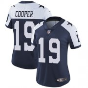 Wholesale Cheap Nike Cowboys #19 Amari Cooper Navy Blue Thanksgiving Women's Stitched NFL Vapor Untouchable Limited Throwback Jersey
