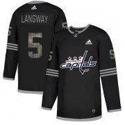 Wholesale Cheap Adidas Capitals #5 Rod Langway Black_1 Authentic Classic Stitched NHL Jersey