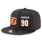 Wholesale Cheap Cincinnati Bengals #90 Michael Johnson Snapback Cap NFL Player Black with White Number Stitched Hat
