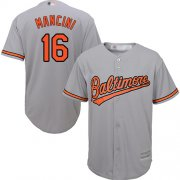 Wholesale Cheap Orioles #16 Trey Mancini Grey New Cool Base Stitched MLB Jersey