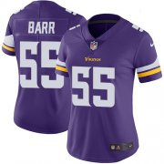 Wholesale Cheap Nike Vikings #55 Anthony Barr Purple Team Color Women's Stitched NFL Vapor Untouchable Limited Jersey