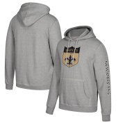 Wholesale Cheap New Orleans Saints Mitchell & Ness Classic Team Pullover Hoodie Heathered Gray