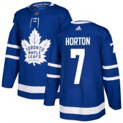 Wholesale Cheap Adidas Maple Leafs #7 Tim Horton Blue Home Authentic Stitched NHL Jersey