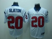 Wholesale Cheap Texans #20 Steve Slaton White Stitched NFL Jersey