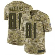 Wholesale Cheap Nike Chargers #81 Mike Williams Camo Youth Stitched NFL Limited 2018 Salute to Service Jersey