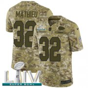 Wholesale Cheap Nike Chiefs #32 Tyrann Mathieu Camo Super Bowl LIV 2020 Youth Stitched NFL Limited 2018 Salute To Service Jersey