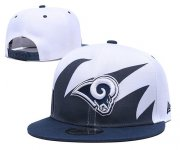 Wholesale Cheap Rams Team Logo Navy White Adjustable Hat