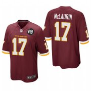 Cheap Washington Redskins #17 Terry McLaurin Men's Nike Burgundy Bobby Mitchell Uniform Patch NFL Game Jersey
