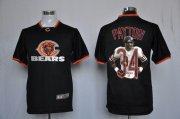 Wholesale Cheap Nike Bears #34 Walter Payton Black Men's NFL Game All Star Fashion Jersey