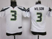 Wholesale Cheap Nike Seahawks #3 Russell Wilson White Youth Stitched NFL Elite Jersey