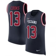 Wholesale Cheap Nike Texans #13 Brandin Cooks Navy Blue Team Color Men's Stitched NFL Limited Rush Tank Top Jersey