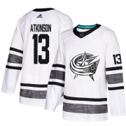 Wholesale Cheap Adidas Blue Jackets #13 Cam Atkinson White Authentic 2019 All-Star Stitched Youth NHL Jersey
