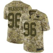 Wholesale Cheap Nike Packers #96 Muhammad Wilkerson Camo Men's Stitched NFL Limited 2018 Salute To Service Jersey