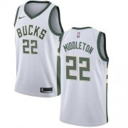 Cheap Youth Milwaukee Bucks #22 Khris Middleton White Basketball Swingman Association Edition Jersey
