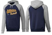 Wholesale Cheap Oakland Athletics Pullover Hoodie Burgundy Blue & Grey