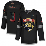 Wholesale Cheap Florida Panthers #3 Keith Yandle Adidas Men's Black USA Flag Limited NHL Jersey
