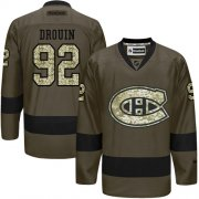 Wholesale Cheap Adidas Canadiens #92 Jonathan Drouin Green Salute to Service Stitched Youth NHL Jersey