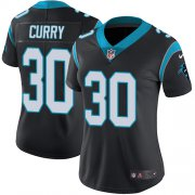 Wholesale Cheap Nike Panthers #30 Stephen Curry Black Team Color Women's Stitched NFL Vapor Untouchable Limited Jersey