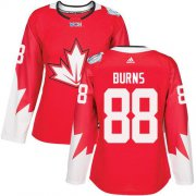 Wholesale Cheap Team Canada #88 Brent Burns Red 2016 World Cup Women's Stitched NHL Jersey