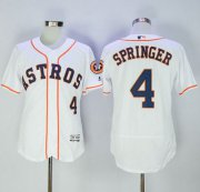 Wholesale Cheap Astros #4 George Springer White Flexbase Authentic Collection Stitched MLB Jersey