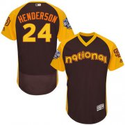 Wholesale Cheap Padres #24 Rickey Henderson Brown Flexbase Authentic Collection 2016 All-Star National League Stitched MLB Jersey