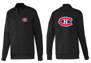 Wholesale Cheap NHL Montreal Canadiens Zip Jackets Black-1