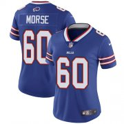 Wholesale Cheap Nike Bills #60 Mitch Morse Royal Blue Team Color Women's Stitched NFL Vapor Untouchable Limited Jersey
