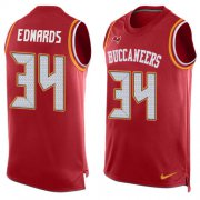 Wholesale Cheap Nike Buccaneers #34 Mike Edwards Red Team Color Men's Stitched NFL Limited Tank Top Jersey
