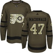 Wholesale Cheap Adidas Flyers #47 Andrew MacDonald Green Salute to Service Stitched NHL Jersey