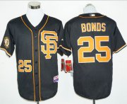 Wholesale Cheap Giants #25 Barry Bonds Black 2016 Cool Base Stitched MLB Jersey