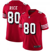 Wholesale Cheap Nike 49ers #80 Jerry Rice Red Team Color Men's Stitched NFL Vapor Untouchable Limited II Jersey