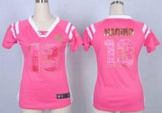 Wholesale Cheap Nike Dolphins #13 Dan Marino Pink Women's Stitched NFL Elite Draft Him Shimmer Jersey