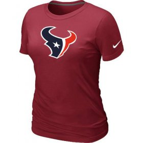 Wholesale Cheap Women\'s Nike Houston Texans Logo NFL T-Shirt Red