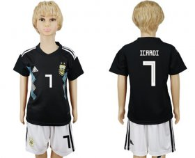 Wholesale Cheap Argentina #7 Icardi Away Kid Soccer Country Jersey
