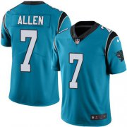 Wholesale Cheap Nike Panthers #7 Kyle Allen Blue Alternate Men's Stitched NFL Vapor Untouchable Limited Jersey