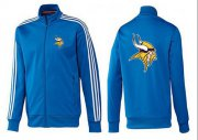 Wholesale Cheap NFL Minnesota Vikings Team Logo Jacket Blue_1