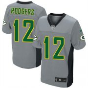Wholesale Cheap Nike Packers #12 Aaron Rodgers Grey Shadow Youth Stitched NFL Elite Jersey