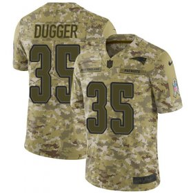 Wholesale Cheap Nike Patriots #35 Kyle Dugger Camo Men\'s Stitched NFL Limited 2018 Salute To Service Jersey