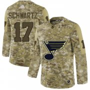Wholesale Cheap Adidas Blues #17 Jaden Schwartz Camo Authentic Stitched NHL Jersey