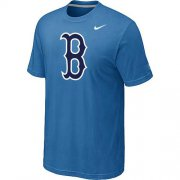 Wholesale Cheap MLB Boston Red Sox Heathered Nike Blended T-Shirt Light Blue