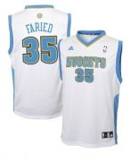 Wholesale Cheap Denver Nuggets #35 Kenneth Faried White Swingman Jersey