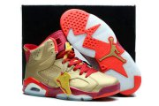 Wholesale Cheap Air Jordan 6 Retro Shoes Gold/red