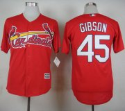 Wholesale Cheap Cardinals #45 Bob Gibson Red Cool Base Stitched MLB Jersey