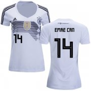 Wholesale Cheap Women's Germany #14 Emre Can White Home Soccer Country Jersey