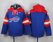 Wholesale Cheap Nike Bills Blank Royal Blue Player Pullover NFL Hoodie